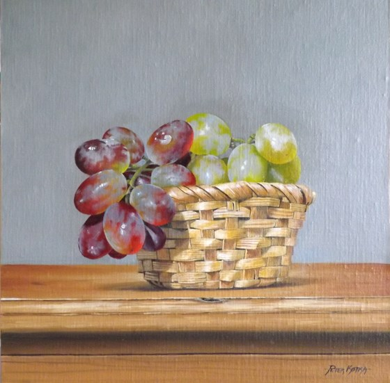 Basket of Grapes by Peter Kotka at the Saffron Walden Gallery