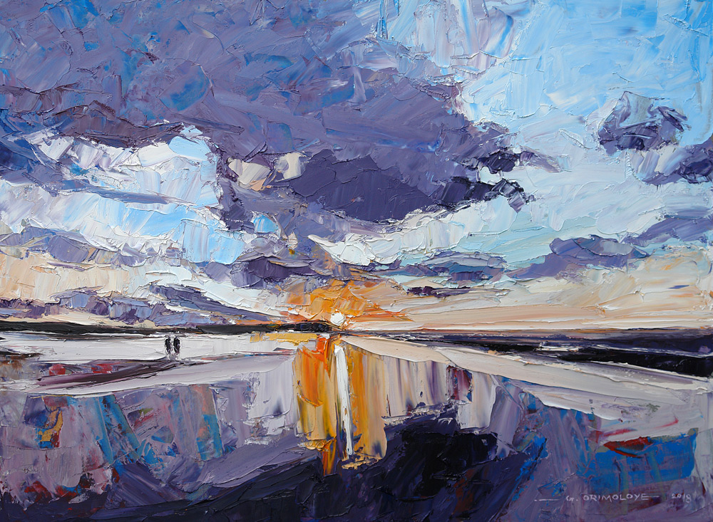 Minehead Beach Somerset by Daniel Gbenga Orimoloye at the Saffron Walden Gallery
