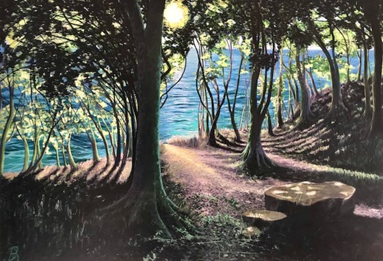 To the Sea from the Woods by Debbie Baxter at the Saffron Walden Gallery