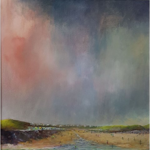 Daymer Summer by John Tregembo at the Saffron Walden Gallery