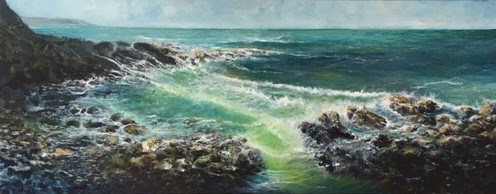 Priest Cove by John Tregembo at the Saffron Walden Gallery