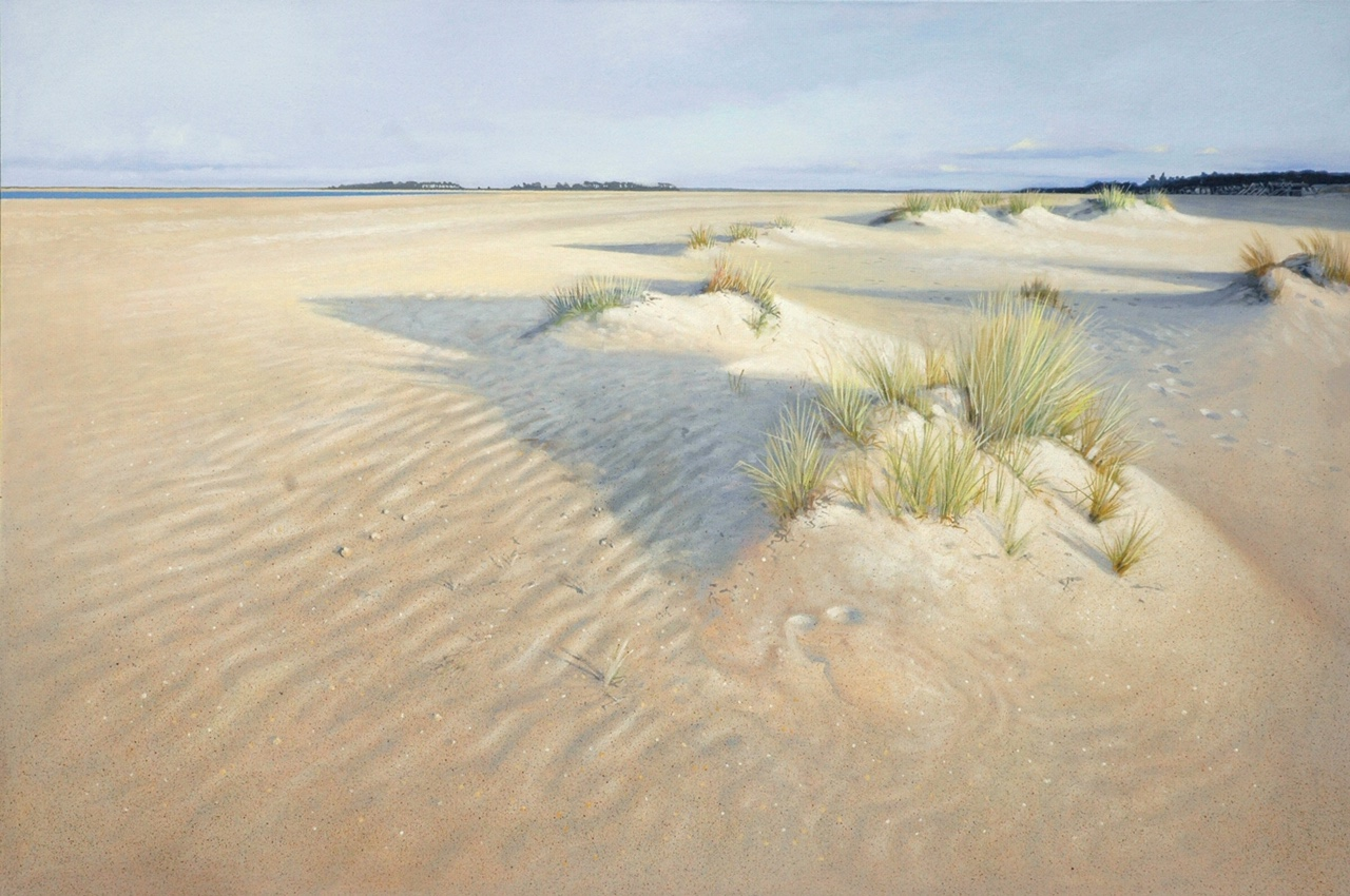 The Beach at Wells-Next-the-Sea by Daniel Hutchings at the Saffron Walden Gallery