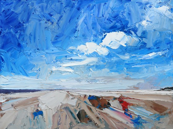 Brancaster Beach II by Daniel Gbenga Orimoloye at the Saffron Walden Gallery