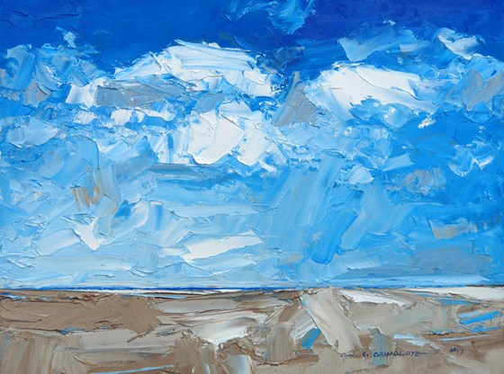 Brancaster Beach III by Daniel Gbenga Orimoloye at the Saffron Walden Gallery