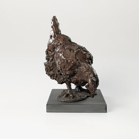 Pecking Hen by Laura Pentreath at the Saffron Walden Gallery