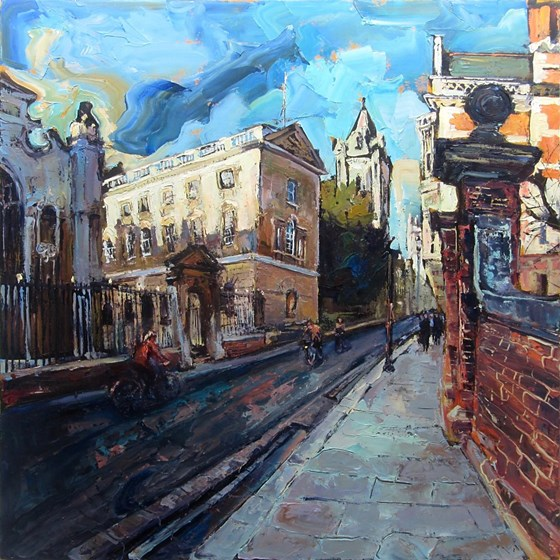 End of Term Peterhouse Cambridge by Susan Isaac at the Saffron Walden Gallery