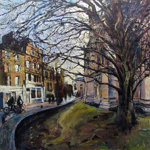 Evening Light St. Johns Street Cambridge by Susan Isaac at the Saffron Walden Gallery
