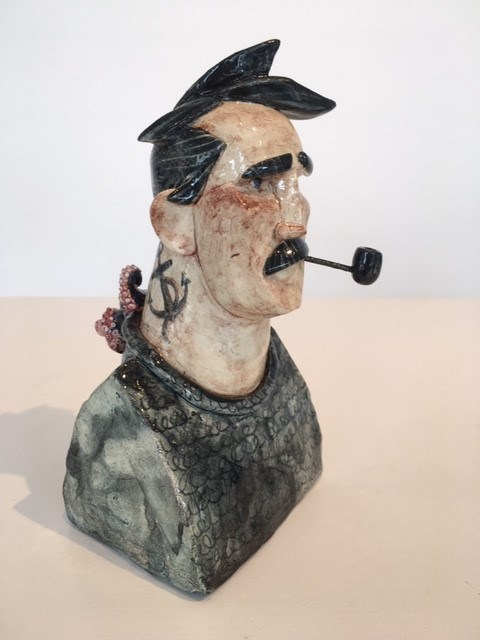 Fisherman 2 by Joe Lawrence at the Saffron Walden Gallery