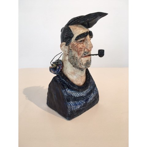 Fisherman 4 by Joe Lawrence at the Saffron Walden Gallery