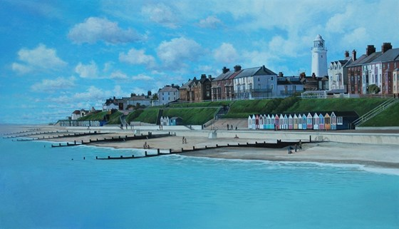 Southwold by Daniel Hutchings at the Saffron Walden Gallery